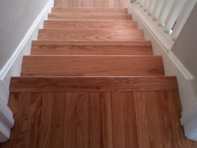 Refinished Red Oak Hardwood Stairs In Iowa City