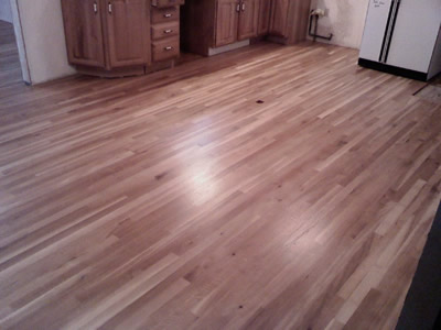 Installed #1 common Rift and Quartered White Oak Hardwood floor in Marion