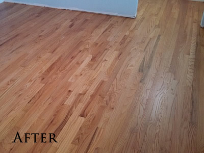 #1 Common red oak refinished with oil-based