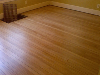 A beautifully refinished Beech hardwood floor in Iowa City