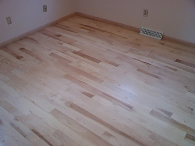 New installation of Second (2nd) grade maple in Iowa City