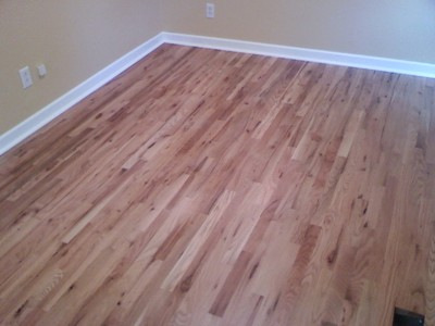 Removed pergo, installed #2 grade red oak