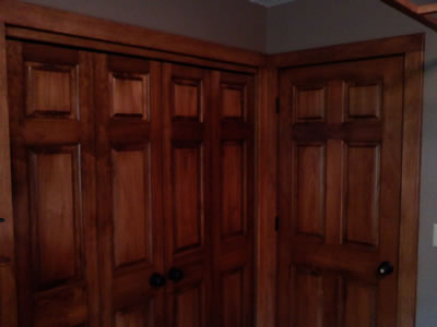 New stained maple doors and trim