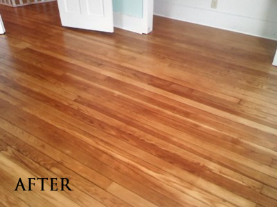 Refinished Heart pine floor in Iowa City