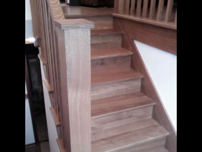 Custom built Quartersawn White Oak staircase