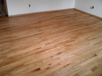 A beautifully refinished red oak hardwood floor in Iowa City