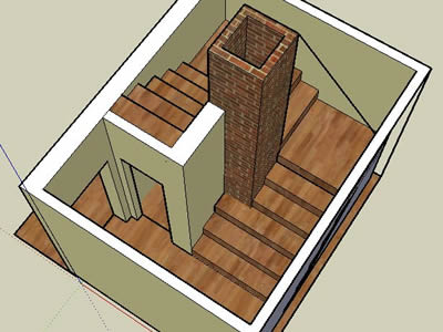 Sketchup model of stairs