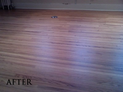 Red oak hardwood floor in historic Iowa City fraternity