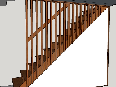 Sketchup model of staircase