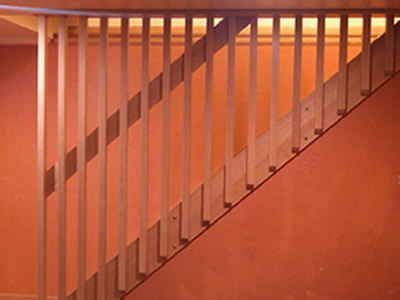 New red oak staircase and railing
